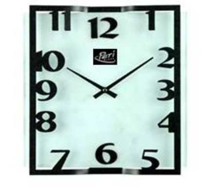 Wall clock square metal glas - Periglass