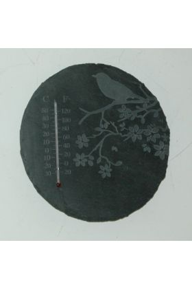 Leisteen thermometer rond / Outhings