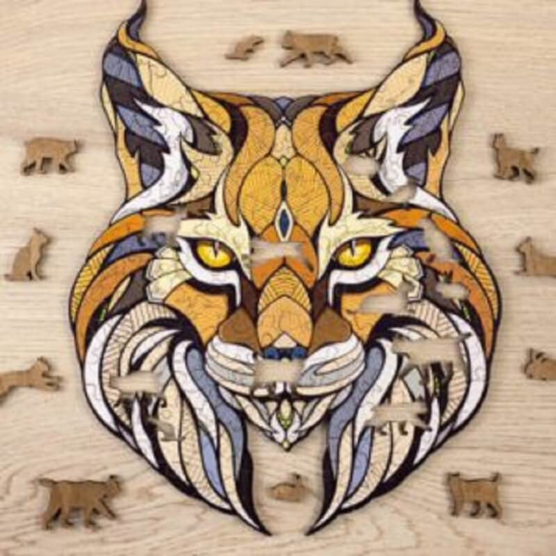 Eco Wood Art Houten Puzzel Lynnx