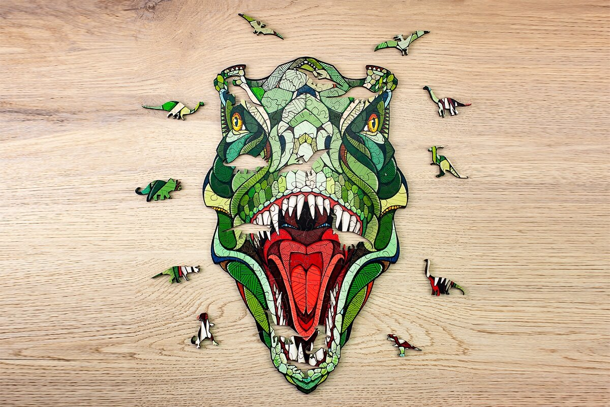 Eco Wood Art Houten Puzzel T-Rex