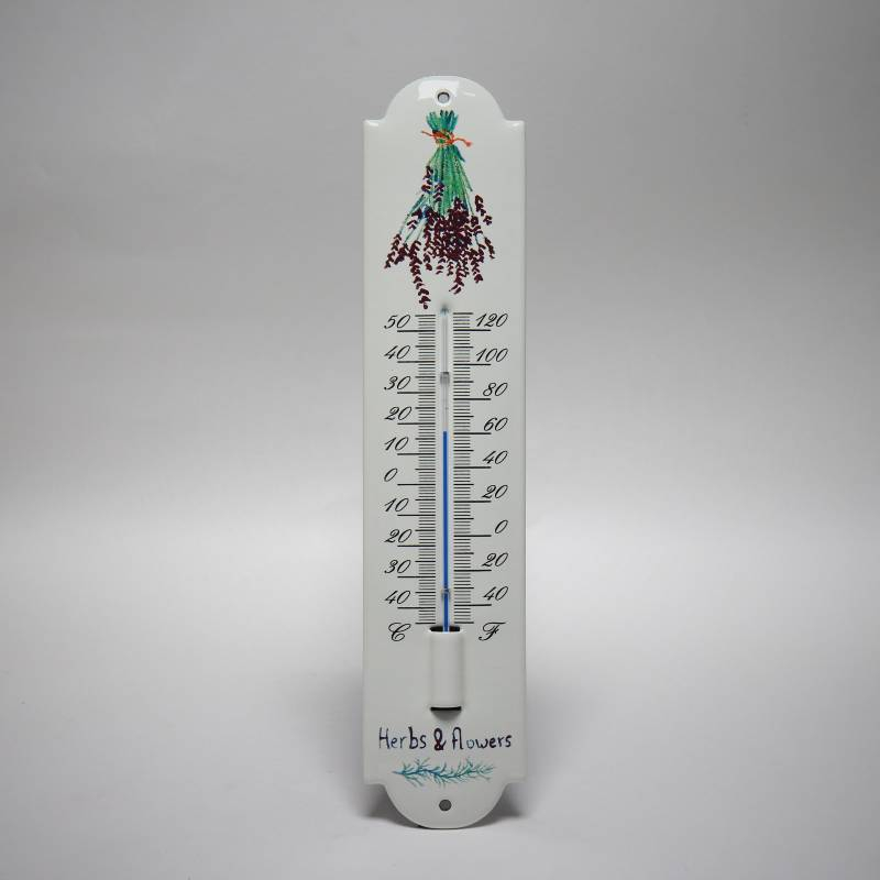 Emaille thermometer Lavendel