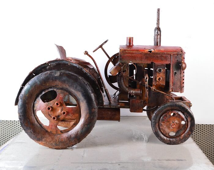 Old Timer tractor metaal