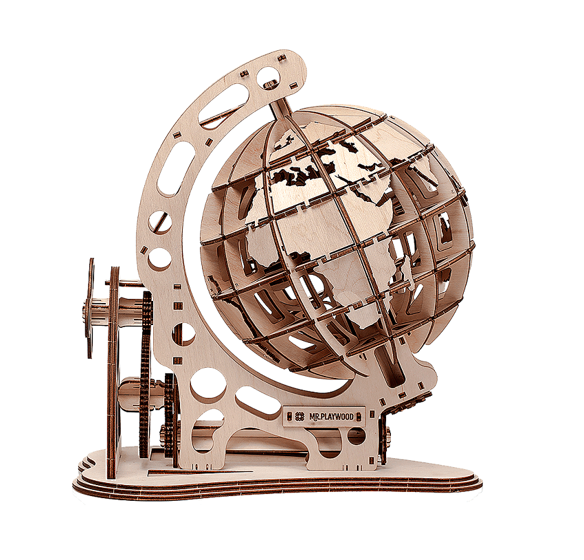 Mr. PlayWood houten model Globe