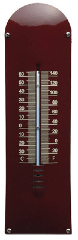 Thermometer Bordeaux rood - Créme blanco