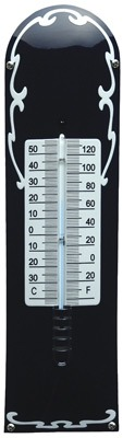 Thermometer Deco Blauw - Wit