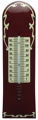 Thermometer Deco Bordeaux rood - cr�me
