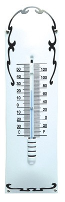 Thermometer Deco Wit - Zwart