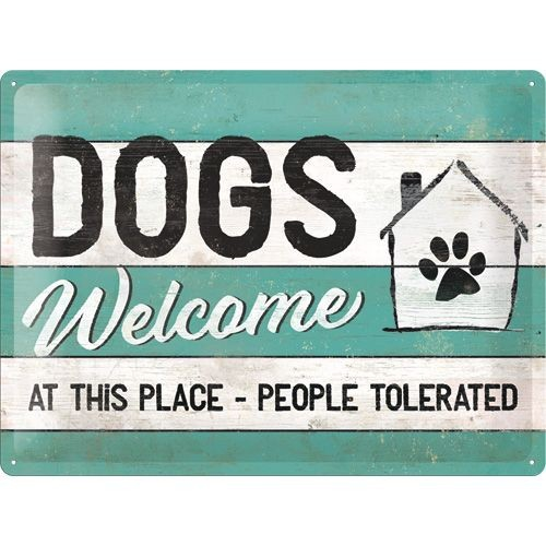 Wandbord Dogs Welcome