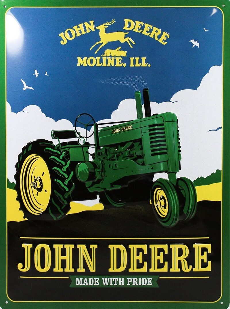 Nostalgic Art wandbord John Deere Made with Pride