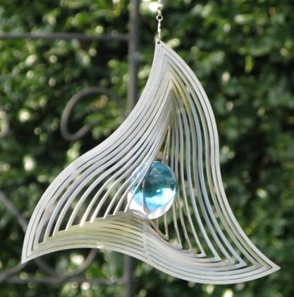Wind spinner swinging triangel met 35 mm kogel-Blauw
